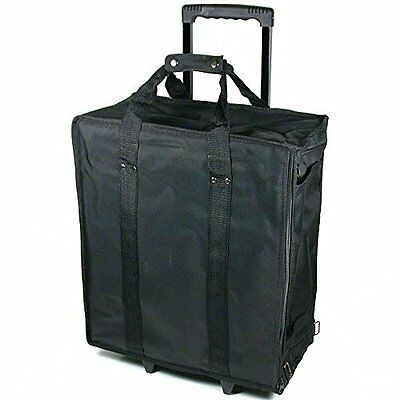 Large Jewelry Display Rolling Light Carrying Transport Case 17 Trays Air Travel