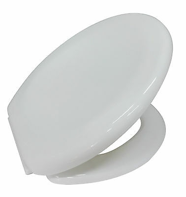 Lightweight White Soft Close Toilet Seat Bathroom WC With Fixings