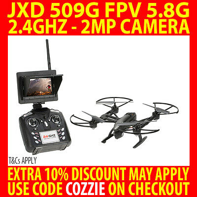 2017 JXD 509G RC DRONE FPV QUADCOPTER with 2MP CAMERA 5.8G TRANSMISSION ALTITUDE