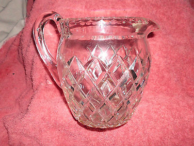 Bohemia Hand Cut Large 14.5Cm Height Crystal Water Jug Pitcher Quality Heavy
