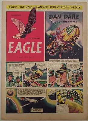 Vintage EAGLE Comic Vol.1 # 4 Dated May 1950. Cutaway of a Comet aircraft.