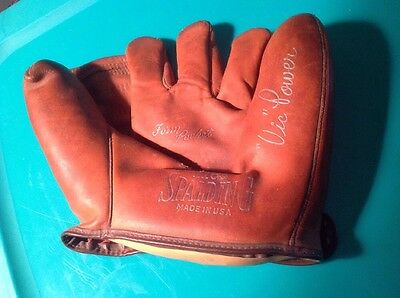 Early Vintage Spalding Baseball Glove 1165 Made In Usa
