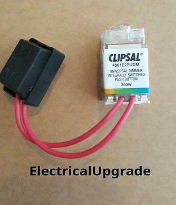 1Clipsal Saturn Offer Push Button Dimmer With Led Light ISPB 350W (4061E2PUDMTR)