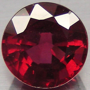 10mm ROUND-FACET DEEP RED/PURPLE NATURAL ALMANDITE GARNET GEMSTONE (APP £115)