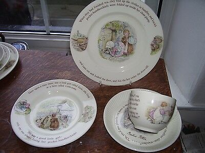 Wedgwood Beatrix Potter Cup Saucer And Plates