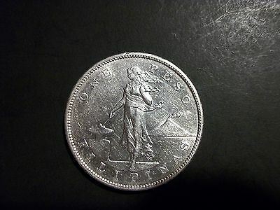 Philippines 1903-S 1 Peso large Silver Coin