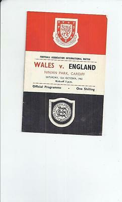 Wales v England Football programme 1963 at Cardiff