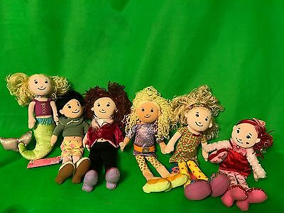 Lot of 6 Groovy Girl Dolls with Outfits 2 new with tags