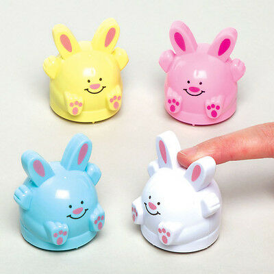 4 Easter Bunny Pull Back Racers for Children - Toys Party Bag Filler Gift Kids