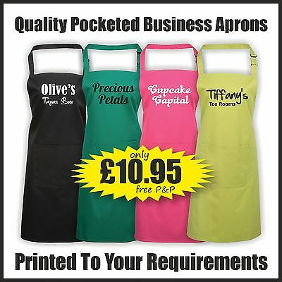 Printed Business Aprons with Pocket - PR154