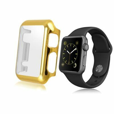 New Gold Clear Apple iWatch 42mm Hard & Slim Protective Case with Screen Protect
