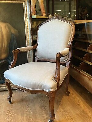 Pair of large antique french chairs in Louis XV style