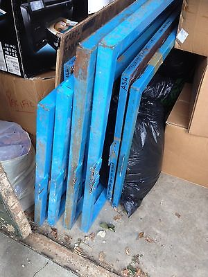 9 screen printing frames various sizes plus 7 Squeegees