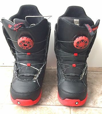 Burton Imprint 1 Zipline Youth Size 7 US Snowboard Boots Black & Red