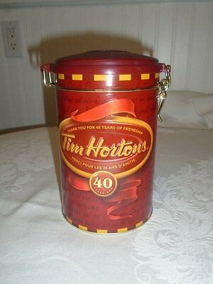 Tim Horton's Collectible 4th Edition Coffee Tin Canister 40th Anniversary 2004