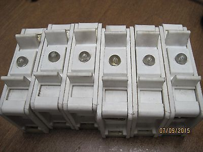 LOT OF 6 )  Rail Fuse Holder  WITH LIGHT RZG-1   8.5 X 31.5 FUSE