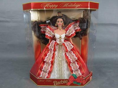New 1997 Happy Holidays Special Edition Brunette Barbie