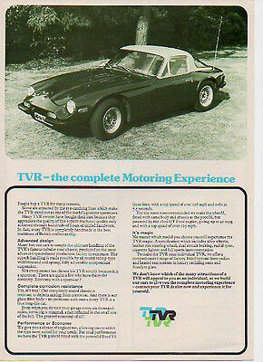 TVR 1600M & 3000M Sports Cars brochure/leaflet