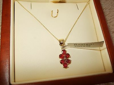 10Ct Gold Madagascan Ruby Pendant And 20In Chain