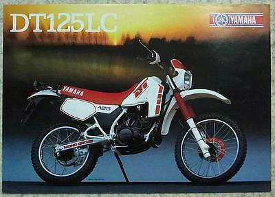 YAMAHA DT125LC MOTORCYCLE Sales Specification Sheet c1987 #LIT-3MC-0107934-87E