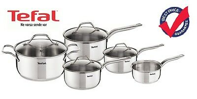 Tefal Intuition Induction 5 Piece Frying Pan Set Stainless Steel - NEW!