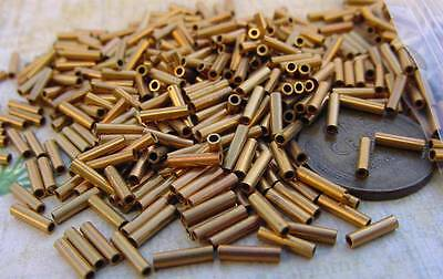 Vintage 1.5 x 6.5mm Brass Tube Beads Findings 200