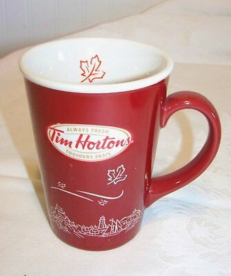 Tim Horton's Limited Edition Coffee Mug Cup 2010 # 010 Blowing Leaves Town Exc