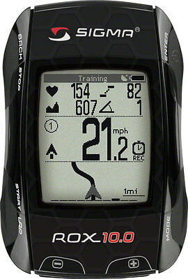 Sigma ROX 10.0 GPS Cycling Computer with ANT+ Speed, Cadence and Heart Rate blk