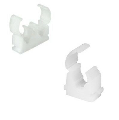 Talon Hinged pipe clips, Single, Double, 10, 12, 15, 22mm, Pack size 5 to 100