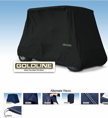 Goldline Premium Xtra Long 4 Person Passenger Golf Car Cart Storage Cover Black