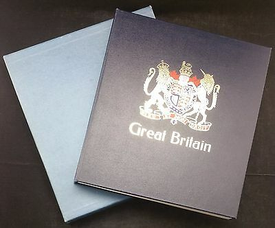 GB Davo Crest Fronted Hingeless Album 1840-1989 in Slipcase with Range of Stamps