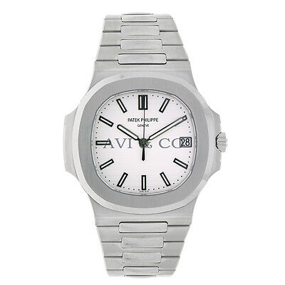 7c1f9bf234a Patek Philippe Nautilus 40mm Stainless Steel White Dial Watch 5711/1A-011  Unworn