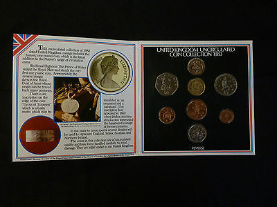 1983 Uncirculated UK coin year set BU 8-coin Royal Mint pack including 1st £1
