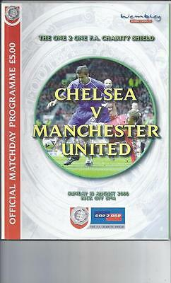 Chelsea v Manchester United FA Charity Shield Football Programme 2000