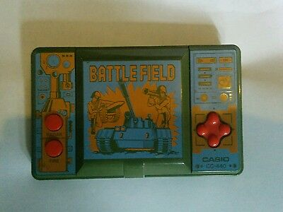 Vintage Casio Battlefield. LCD. Handheld Electronic Game.