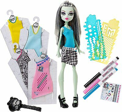 Monster High Frankie Stein Dress Designer Boo-Tique Doll with Stickers - NEW