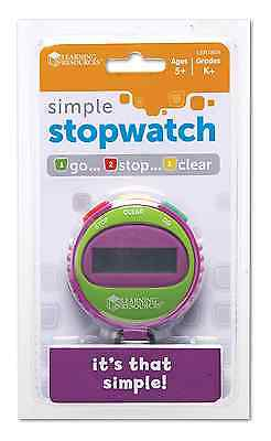 Learning Resources Simple Stopwatch NEW