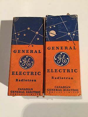 one matched pair GE 1T4 / DF91 NOS/NIB, perfect condition, very early production