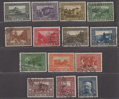 **Bosnia, SC# 46-54, 56-9, 61 Used, VF Partial Set, Less 55 & 60, CV $53.75