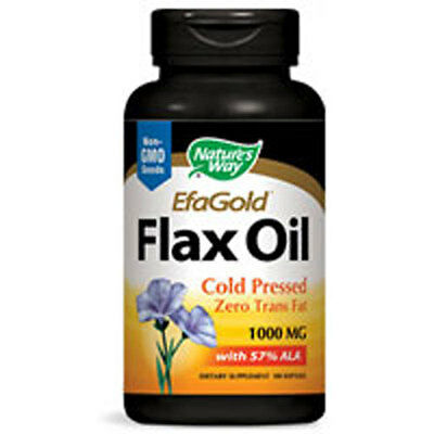 Flax Oil 100 Softgels 1000mg by Nature's Way