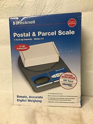 Brecknell Postal & Parcel Scale 11Lb Capacity Model 311 Simple Accurate Digital