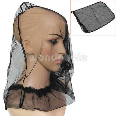 Black Mosquito Bug Bee Insect Mesh Net Head Face Protector Mask Camping Hiking