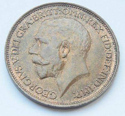 1912 KING George V half-penny.HIGH GRADE WITH LUSTRE COIN