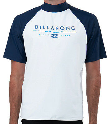 "New + Tag Billabong Mens (L) ""stackers"" Wet Shirt Rash Vest Relaxed Fit S/sleeve"
