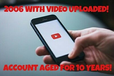 SALE! 2006 Aged Youtube Account WITH Aged Video Upload! Easy To Rank Videos!