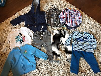 Baby Boys 9  Piece Clothing Bundle 12-18 Months