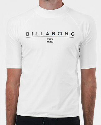 "New +Tag Billabong Mens (M) ""front"" Wet Shirt Rash Vest Relaxed Fit Short Sleeve"