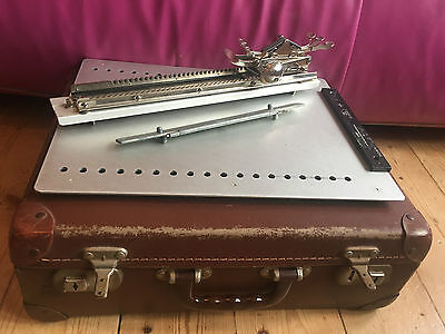 Stainsby Wayne Braille Type Writer vintage RNIB suitcase case antique portable