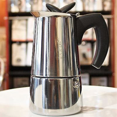 Bialetti Musa 10 cup, Stainless Steel, Stovetop Coffee Maker