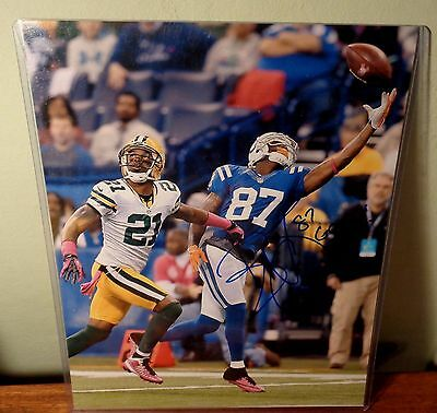 REGGIE WAYNE Autographed 11X14 Glossy Photo INDIANAPOLIS COLTS